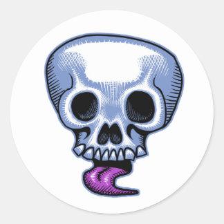 Pegatina de la lengua del cráneo