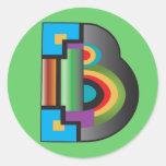 Pegatina de la letra de B