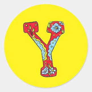 Pegatina de la letra Y