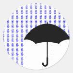 Pegatina de la lluvia de la palabra