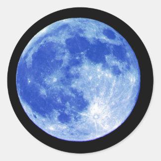 Pegatina de la luna azul