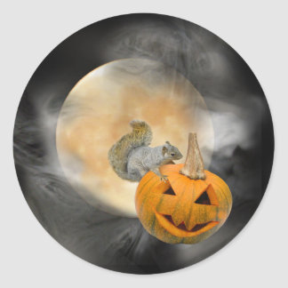 Pegatina de la luna de la Jack-o-Linterna de la