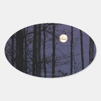 Pegatina de la luna de Northwoods