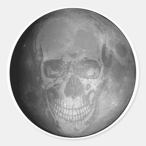 Pegatina de la luna del cráneo