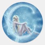 Pegatina de la luna del invierno