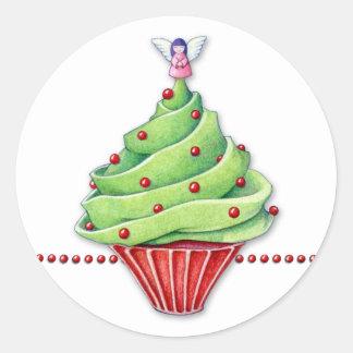 Pegatina de la magdalena del árbol de navidad