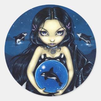Pegatina de la magia de la orca