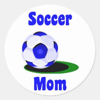 Pegatina de la mamá del fútbol