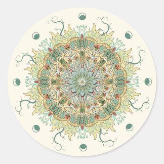 Pegatina de la mandala de la flor de Morris del