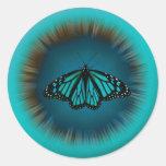 Pegatina de la mandala de la mariposa de la turque