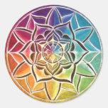 Pegatina de la mandala de la rueda de color