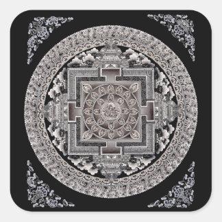 Pegatina de la mandala de Manjushri