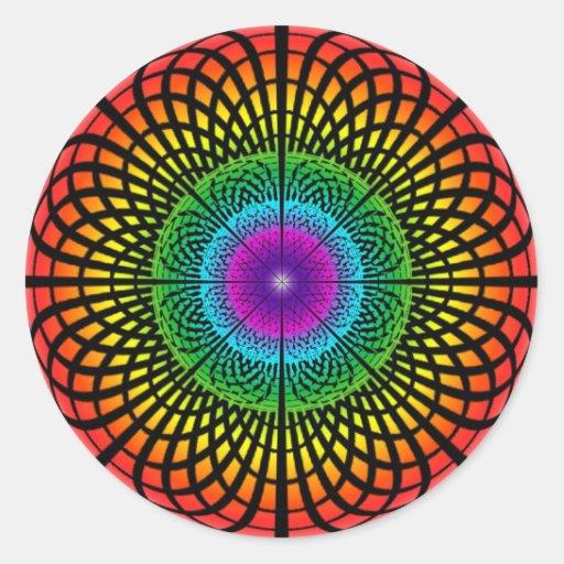 Pegatina de la mandala del arco iris