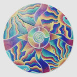 Pegatina de la mandala el torcer en espiral Sun