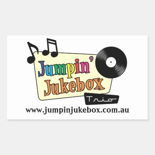 Pegatina de la máquina tocadiscos de Jumpin
