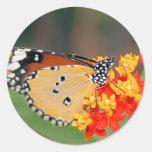 Pegatina de la mariposa de la reina