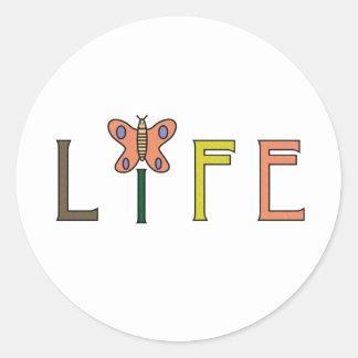 Pegatina de la mariposa de la vida