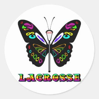 Pegatina de la mariposa de los diseños de LaCrosse