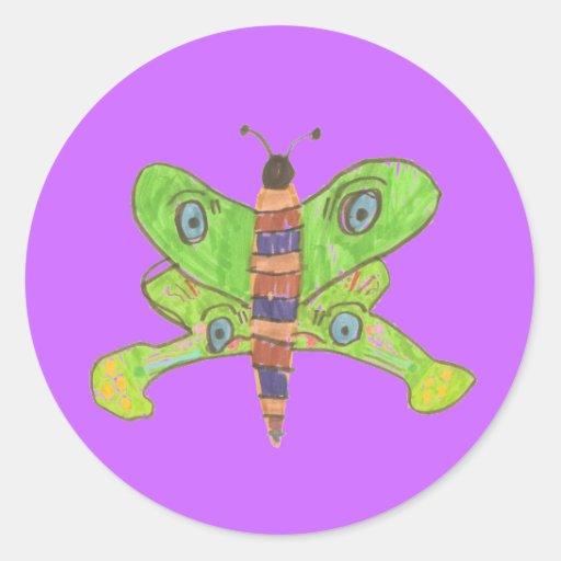 Pegatina de la mariposa de los gráficos del Kat