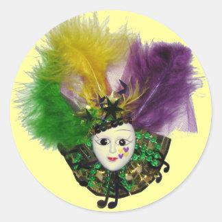 Pegatina de la máscara del carnaval
