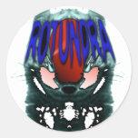 Pegatina de la mascota de Rotundra
