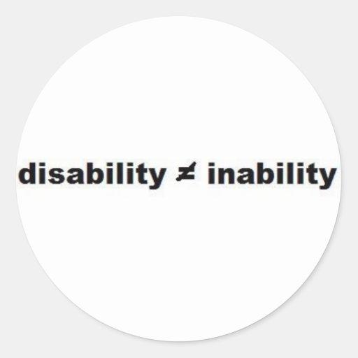 Pegatina de la matemáticas de la incapacidad
