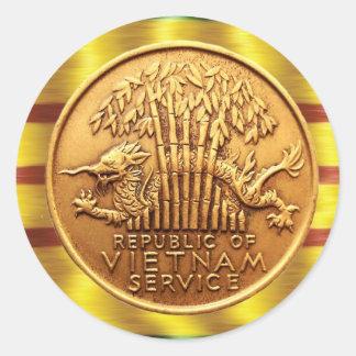 Pegatina de la medalla al servicio de Vietnam
