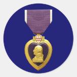 Pegatina de la medalla de Purple Heart