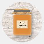 Pegatina de la mermelada anaranjada
