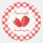 Pegatina de la mermelada de fresa