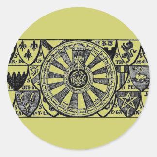 Pegatina de la mesa redonda de rey Arturo