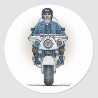 Pegatina de la motocicleta de la policía