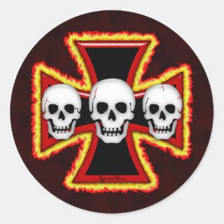 Pegatina de la muerte del hierro