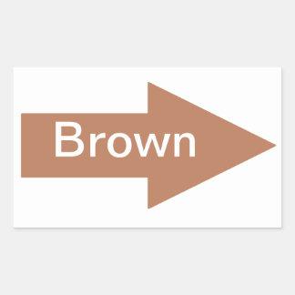 Pegatina de la muestra de la flecha de Brown