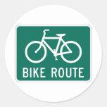 Pegatina de la muestra de la ruta de la bicicleta