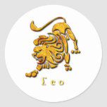 Pegatina de la muestra de Leo