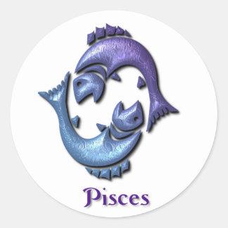Pegatina de la muestra de Piscis