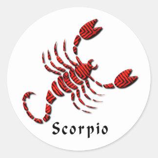 Pegatina de la muestra del escorpión