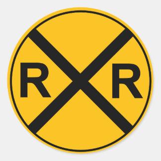 Pegatina de la muestra del ferrocarril