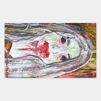 Pegatina de la mujer del zombi