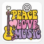 Pegatina de la música del amor de la paz
