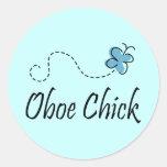 Pegatina de la música del polluelo de Oboe de la