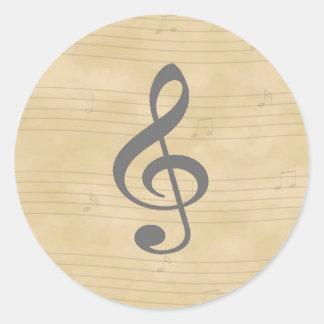 Pegatina de la música del vintage