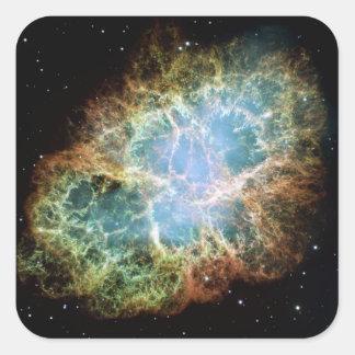 Pegatina de la nebulosa de cangrejo