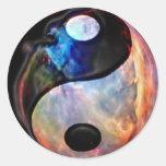 Pegatina de la nebulosa de Yin Yang