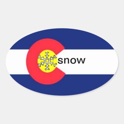 Pegatina de la nieve de Colorado