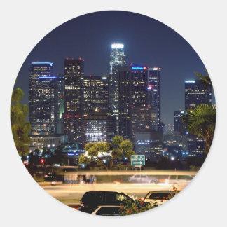 Pegatina de la noche de Los Ángeles