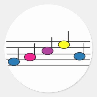 Pegatina de la nota de la música