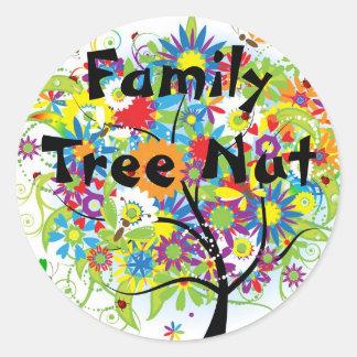 Pegatina de la nuez del árbol de familia