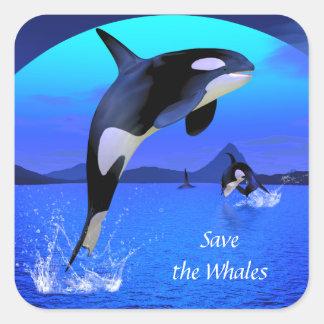 Pegatina de la orca